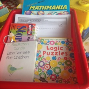Summer work box DFW Homeschool Resource